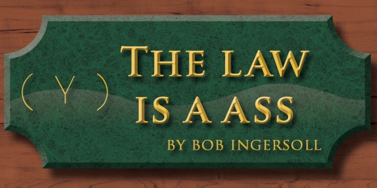 THE LAW IS A ASS #449: I SIC A POINT OF LAW ON ISAAC