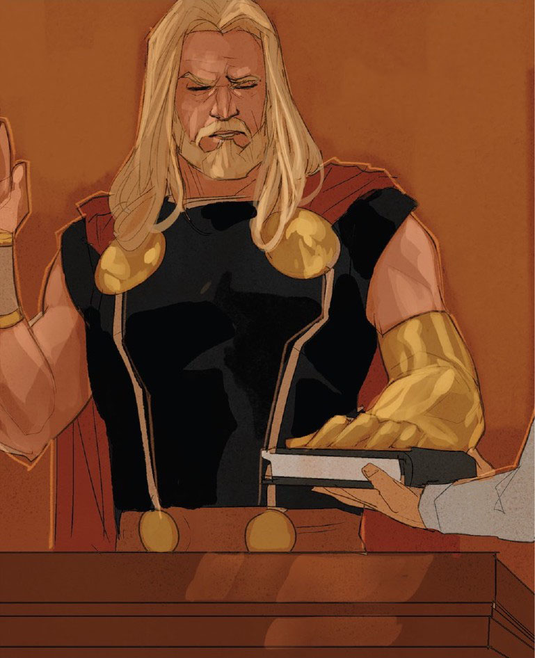Thor swearing on a Bible